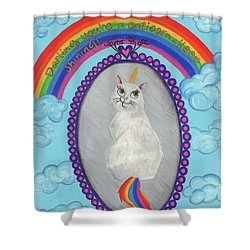 Caticorn Shower Curtain