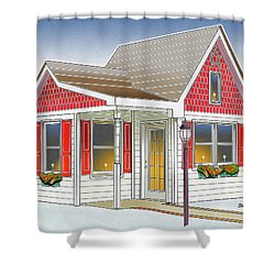 Catonsville Santa House Shower Curtain by Stephen Younts
