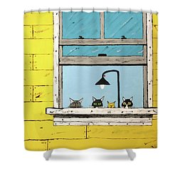 Cats Daydreaming Shower Curtain