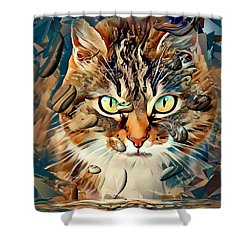 Cats Popart By Nico Bielow Shower Curtain
