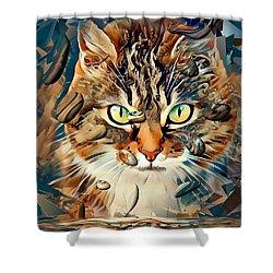 Cats Popart By Nico Bielow Shower Curtain by Nico Bielow