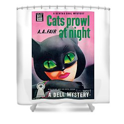 Cats Prowl At Night Shower Curtain