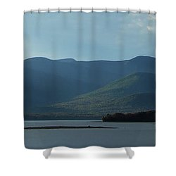Catskill Mountains Panorama Photograph Shower Curtain by Kristen Fox