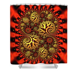 Catsup And Mustard Shower Curtain