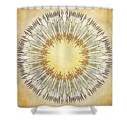 Cattail Mandala - Shower Curtain