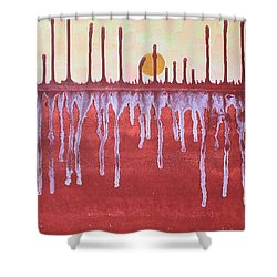 Cattails Original Painting Sold Shower Curtain