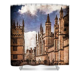Oxford, England - Catte Street Shower Curtain