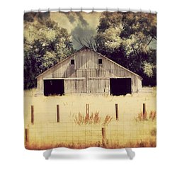 Shower Curtain featuring the photograph Hwy 3 Barn by Julie Hamilton