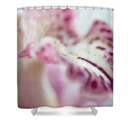 Shower Curtain featuring the photograph Cattleya Orchid Abstract 4 by Jenny Rainbow