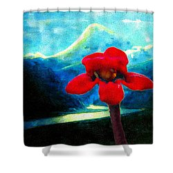 Shower Curtain featuring the photograph Caucasus Love Flower II by Anastasia Savage Ealy
