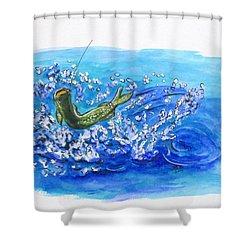 Caught Fish Shower Curtain