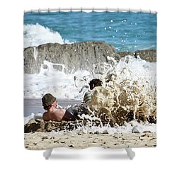 Shower Curtain featuring the photograph Caught From Behind by Terri Waters