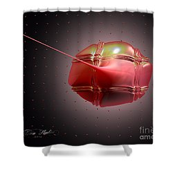 Caught In A Net Shower Curtain by Melissa Messick