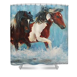 Caught In The Rain  Close Up Shower Curtain by Karen Kennedy Chatham