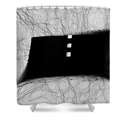 Caught In The Web  Shower Curtain by Kandy Hurley