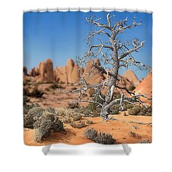 Caught In Your Dying Arms Shower Curtain