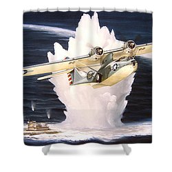 Caught On The Surface Shower Curtain by Marc Stewart