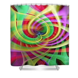 Caught Up In A Colorful Swirl Shower Curtain
