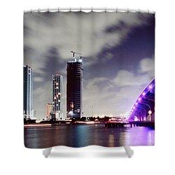 Causeway Bridge Skyline Shower Curtain