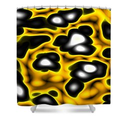 Shower Curtain featuring the digital art Caution by Jeff Iverson