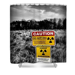 Caution Shower Curtain
