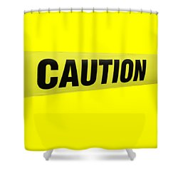 Caution Tape Shower Curtain