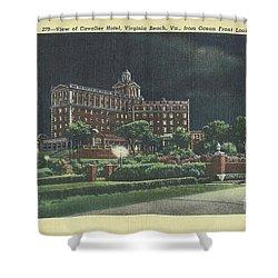Cavalier Hotel Virginia Beach, Virginia 1940's Shower Curtain