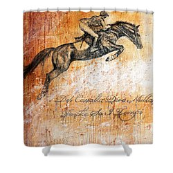 Cavallo Contemporary Horse Art Shower Curtain by Jennifer Godshalk