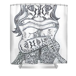Ballo Nero Shower Curtain
