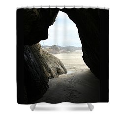 Shower Curtain featuring the photograph Cave Dweller by Holly Ethan