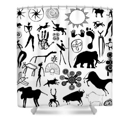 Cave Painting Shower Curtain