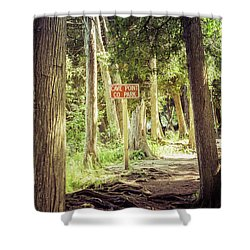 Shower Curtain featuring the photograph Cave Point Trails by Joel Witmeyer