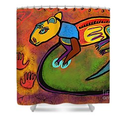 Cave Rat Shower Curtain by Hans Magden