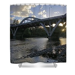 Caveman Bridge At Sunset Shower Curtain