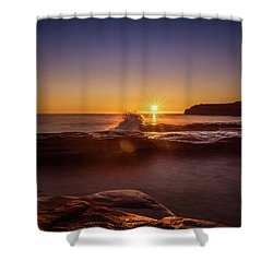 Cavendish Waves At Sunrise Shower Curtain