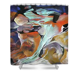 Cavernous Tumble Shower Curtain by Rae Andrews
