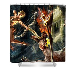 Caverns Of Light Shower Curtain