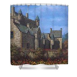 Cawdor Castle In Summertime Shower Curtain by Sean Conlon