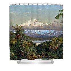 Cayambe Shower Curtain by Frederic Edwin Church