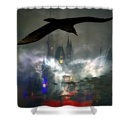 The Castle Shower Curtain by David Lee Thompson