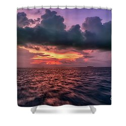 Shower Curtain featuring the photograph Cebu Straits Sunset by Adrian Evans