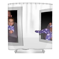 Cece - Gently Cross Your Eyes And Focus On The Middle Image Shower Curtain by Brian Wallace