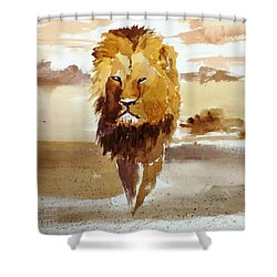 Cecil The Lion Shower Curtain by Larry Hamilton