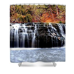 Cedar Creek Falls, Kansas Shower Curtain