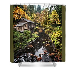 Cedar Creek Grist Mill Color Burst Shower Curtain