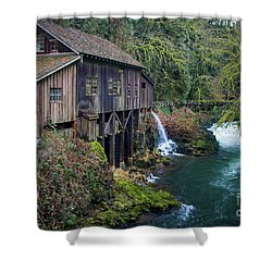 Cedar Grist Mill Shower Curtain
