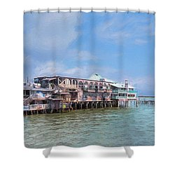 Shower Curtain featuring the photograph Cedar Key by John M Bailey