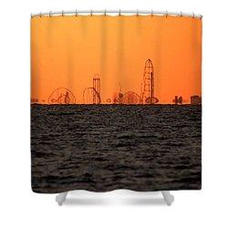 Cedar Point Skyline Shower Curtain