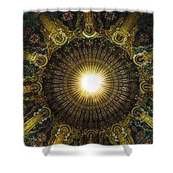 Ligth  Burst Shower Curtain
