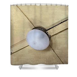 Ceiling Light On Antique Train Shower Curtain
